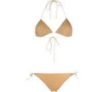 Bikini mit Metallic-Effekt