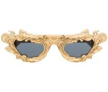 Goldene Cat-Eye-Sonnenbrille