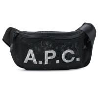 A.P.C. Netz-Gürteltasche mit Logo