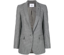 checked fitted jacket