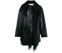 Mantel mit Lammfell-Borten