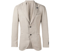 - Anzug mit zwei Knöpfen - men - Hanf/Polyester