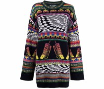 Intarsien-Pullover im Oversized-Look