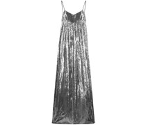 Weiter Metallic-Jumpsuit