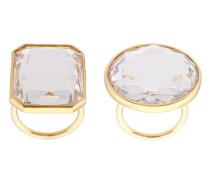 Vergoldeter Ring mit Cubic Zirkonia-Stein