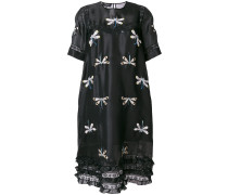 dragonfly embroidered peasant dress