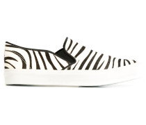 Slip-On-Sneakers mit Zebra-Print