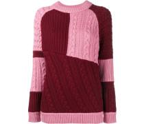 oversized patchwork knit jumper