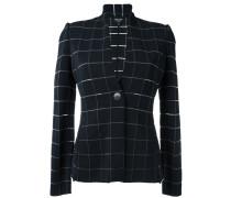 check woven jacket