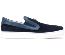 Slip-On-Sneakers mit Logo-Schild - kids