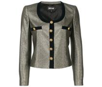 metallic effect cropped jacket