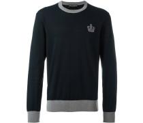 Pullover mit Kronenstickerei - men - Baumwolle