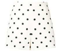 Kurze Shorts mit Polka Dots