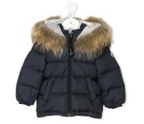 fur-lined puffer coat