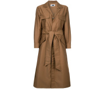 belted shirt-style coat