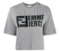 "T-Shirt mit ""Femme Fierce""-Print"