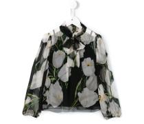 Chiffon-Bluse mit floralem Print