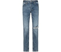 Skinny-Jeans mit Distressed-Detail