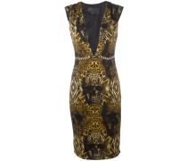 Bedrucktes Kleid mit tiefem Ausschnitt