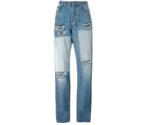 Gerippte Boyfriend-Jeans