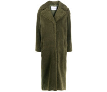 Einreihiger Mantel aus Faux Shearling