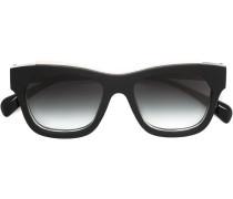 Sonnenbrille mit Lederdetails