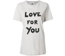 "T-Shirt mit ""Love For You""-Print"
