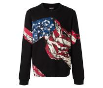 Sweatshirt mit USA-Flaggen-Print