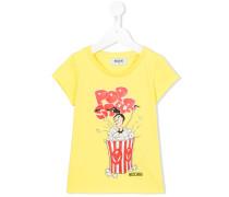T-Shirt mit Popcorn-Print
