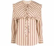 Gestreifte Popeline-Bluse