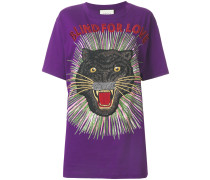 'Blind for Love' T-Shirt mit Panther-Print