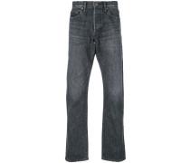 washed regular jeans