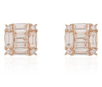 Mini 18kt Rotgoldohrstecker mit Diamanten