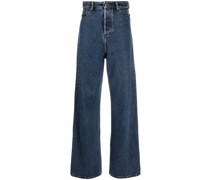 Weite High-Rise-Jeans