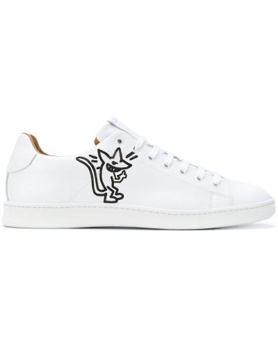 Sneakers mit Ratten-Print