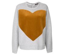 heart print sweatshirt