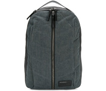 denim zip backpack