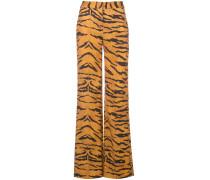Gerade Hose mit Tiger-Print