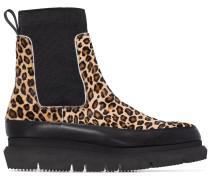 'Gore' Chelsea-Boots mit Leo-Print