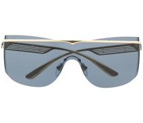 Pilotenbrille mit farbigen Gläsern