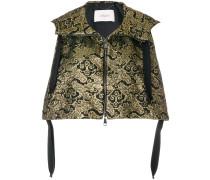cropped jacquard jacket