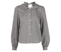 Stinging gingham check-print blouse