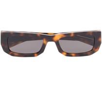 Eckige Bricktop Sonnenbrille in Schildpattoptik
