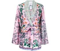 Kimono-Jacke mit Blumen-Print