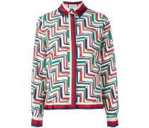 chain print pyjama shirt