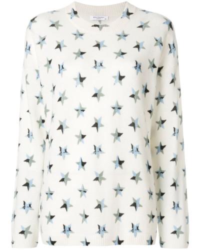 Intarsienpullover mit Sternen