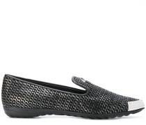 'Sandy' Loafer mit Kontrastkappe