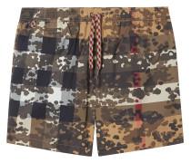 Badeshorts mit Camouflage-Check