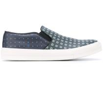 Slip-On-Sneakers aus Leder - men - Leder/rubber