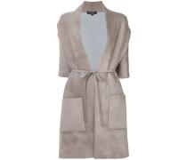 belted shawl coat